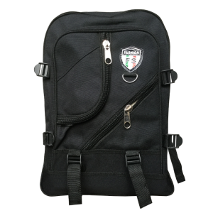 Double shoulder-School bag-Medium-Black-Anwar&Sons-Each unit