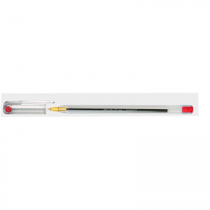 Piano-Clear-Ball point-Red-Pack of 10