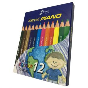 Piano-Pencil colors-Large-Premium-Pack of 12 colors